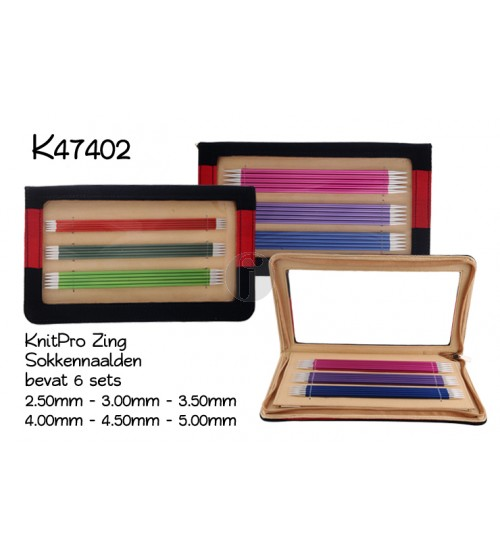 Knitpro Zing sokkennaalden set