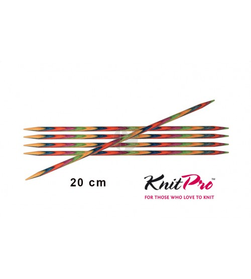 Knitpro symfonie 5.00 mm sokkennaalden 20 cm