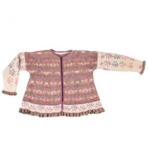 Roses and Thornes jacket brown/rose - Christel Seyfarth Aktie
