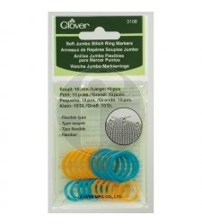 clover 3108 Soft Jumbo stitch ring markers