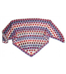 Bonbon sjaal blauw Christel Seyfarth