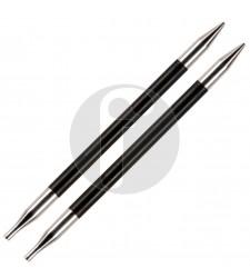 Knitpro KORT 3.5 MM verwisselbare naaldpunten Karbonz