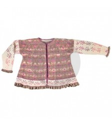 Roses and Thornes jacket brown/rose - Christel Seyfarth