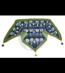 Summer meadow shawl dark blue- Christel Seyfarth