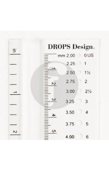 Drops naald liniaal