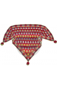 Malthese shawl red Christel Seyfarth